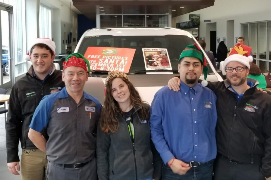 Mullinax Ford Toys for Tots Happy Holidays