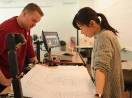 SPSCC-AEC-Technology-Program-Professor-Ting-Song-Student-Drafting-Classroom