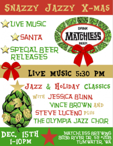 Snazzy Jazzy Holiday Soiree @ Matchless Brewing