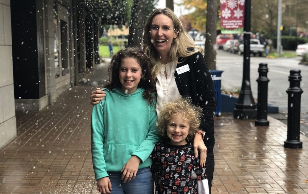 Washingon Center Jill Barnes with Kids