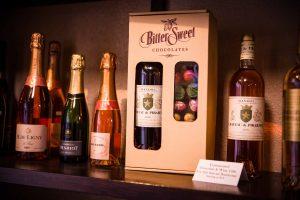Bittersweet Chocolates Valentine's Day Wine and Chocolate Box Gift Set