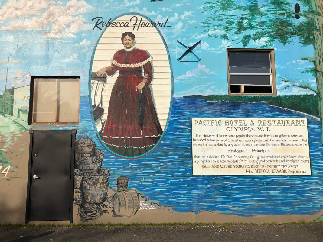 Black History Month Rebecca Howard Mural Olympia