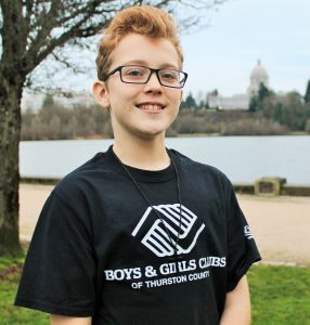 Boys and Girls Club Youth of the Year Kaiden Lindholm - Tenino YOY Nominee