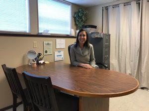 Gundersen Dental Care Breathe Better, Annie at her desk