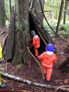 Squaxin Island Preschool Tree fort