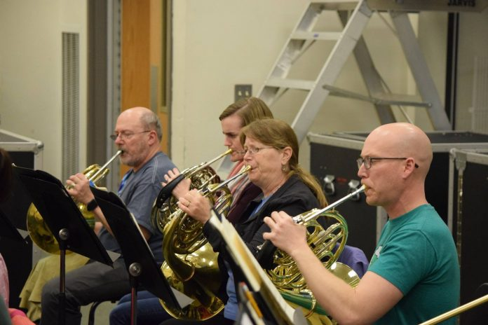 Olympia Symphony Orchestra horn section rehearsal 04.2018