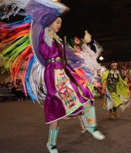 Squaxin Tribe powwow fancy dance regalia