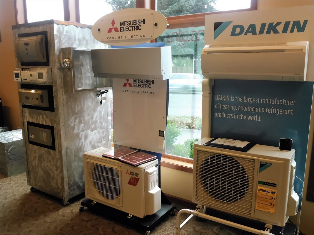 Sunset Air heat pump air conditioning options galore