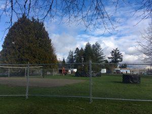 Woodruff Park Sprayground Fenced Off