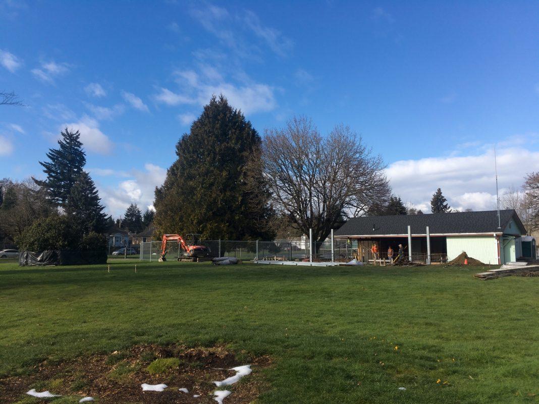 Woodruff Park Sprayground Work Underway