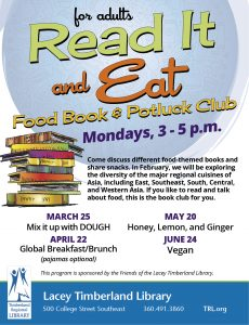 Read It and Eat: Food Book and Potluck Club @ Lacey Timberland Library