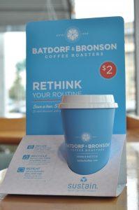 Batdorf and Bronson BlueReusable Cups