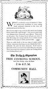 Cooking school advertisement