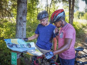Intercity-Transit-Bicycle-Commuter-Challenge-Pt-2-Boys-Look-at-Map