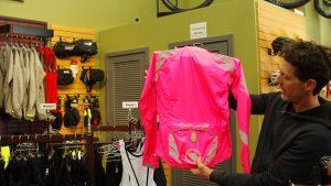 Intercity Transit Bicycle Commuter Challenge Pt 2 Man holds jacket