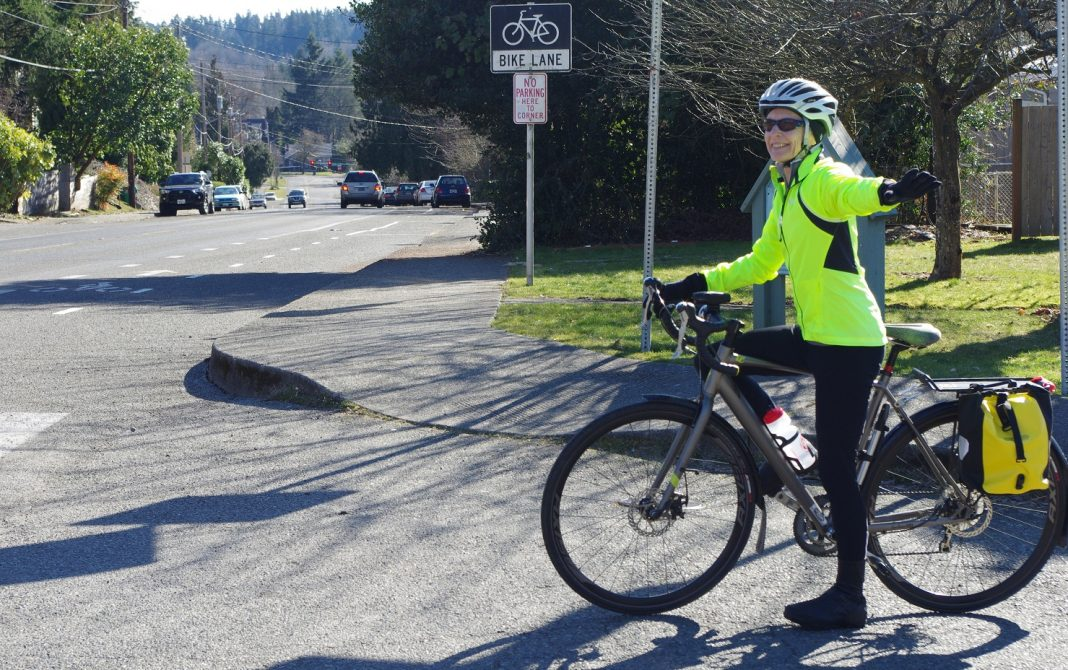 Intercity Transit Bicyle Commuter Challenge 2019 Bike at Stop Sign