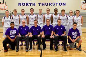 North Thurston basketball Brown