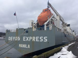 Port of Olympia Cattle Shipment Devon Express