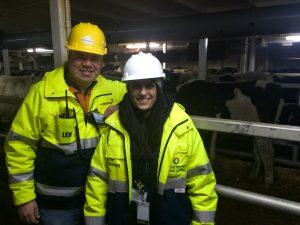 ort of Olympia Cattle Shipment Len Faucher and Jennie Foglia-Jones