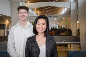 South Puget Sound Community College Running Start Students Thanh Tran and Jake Olson