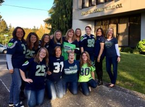 Thurston County Title Staff Seahawks fans