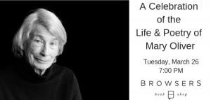 A Celebration of the Life & Poetry of Mary Oliver @ Browsers Bookshop