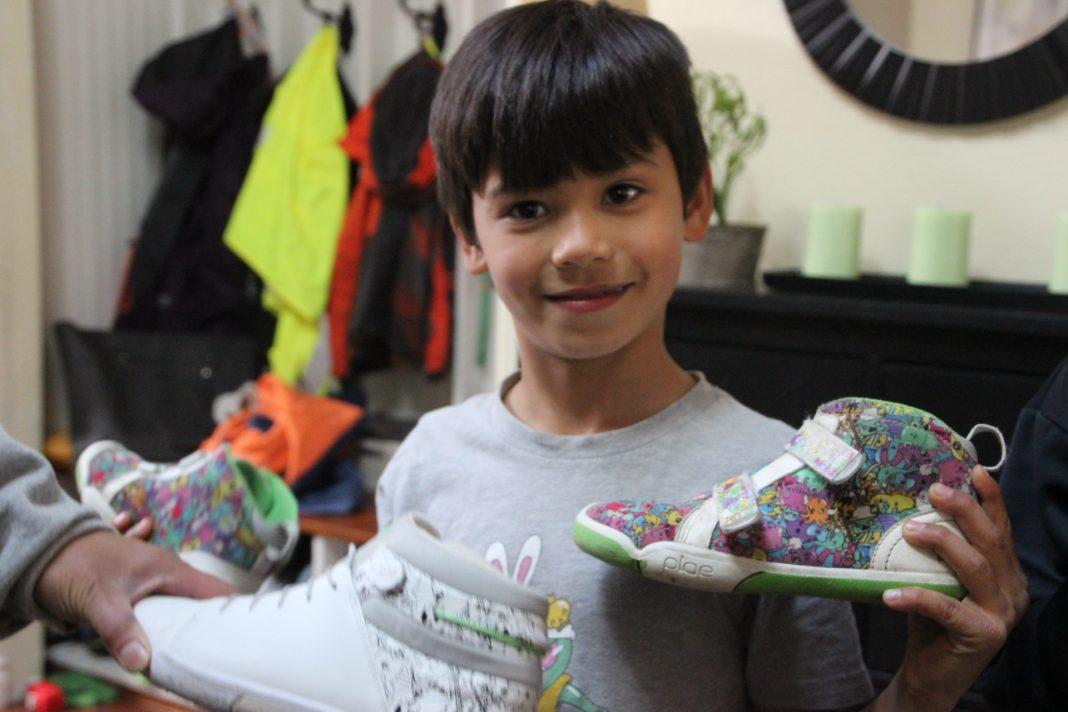 Elliott Beagle with PLAE Shoes