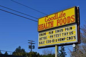 GoodLife outdoor sign