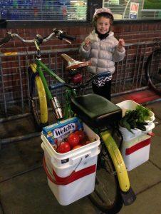 Intercity Transit Bicycle Commuter Challenge Kids Alice Bench Bike Groceries
