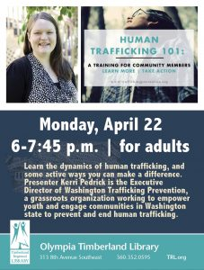 Human Trafficking 101 for Community Members @ Olympia Timberland Library