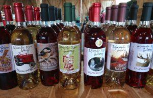 Olympia Farmers Market Wynoochee River Wine Bottles