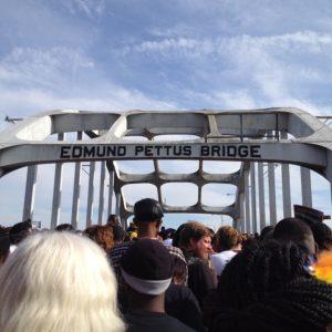 Reverend Carol McKinley Crossing Edmund Pettis Bridge