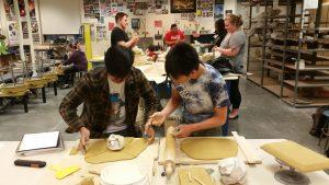 SPSCC Ceramics Students