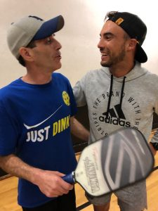 Tyson with OPC members Pickleball
