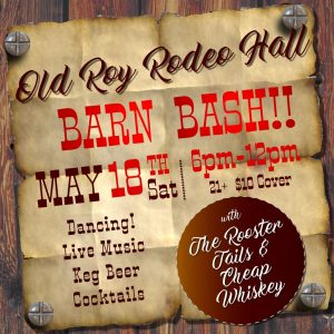 Barn Bash!! Country Dance at the Old Roy Rodeo Hall @ Copper Gables Barn & Venue