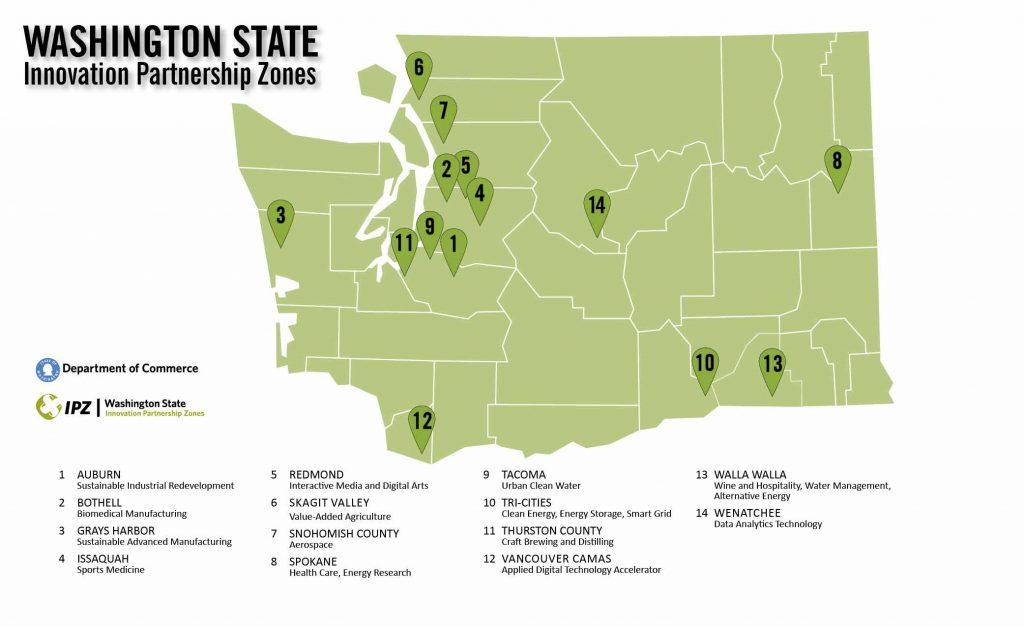 Innovation Partnership Zone Map