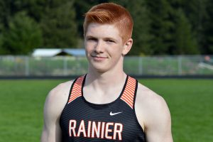 Rainier junior Brody Klein track 3