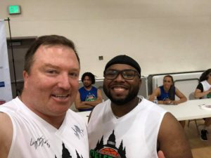 arsenal promotions Celebrity basketball steadman