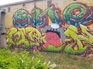 CIty of Yelm graffiti wall