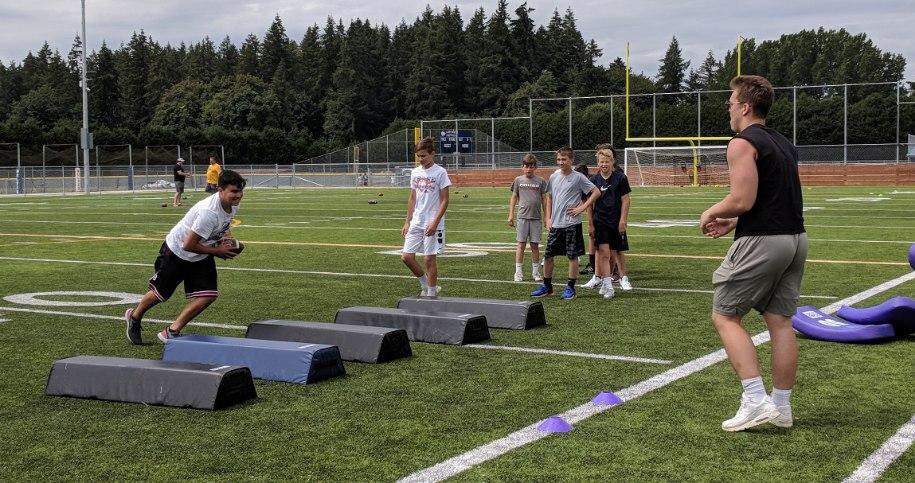 Campus to Community Youth football camp 2019 2