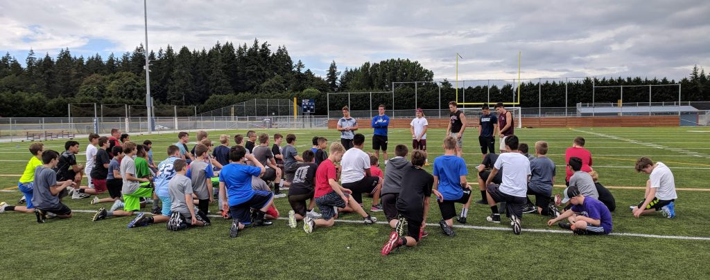 Campus to Community Youth football camp 2019 3