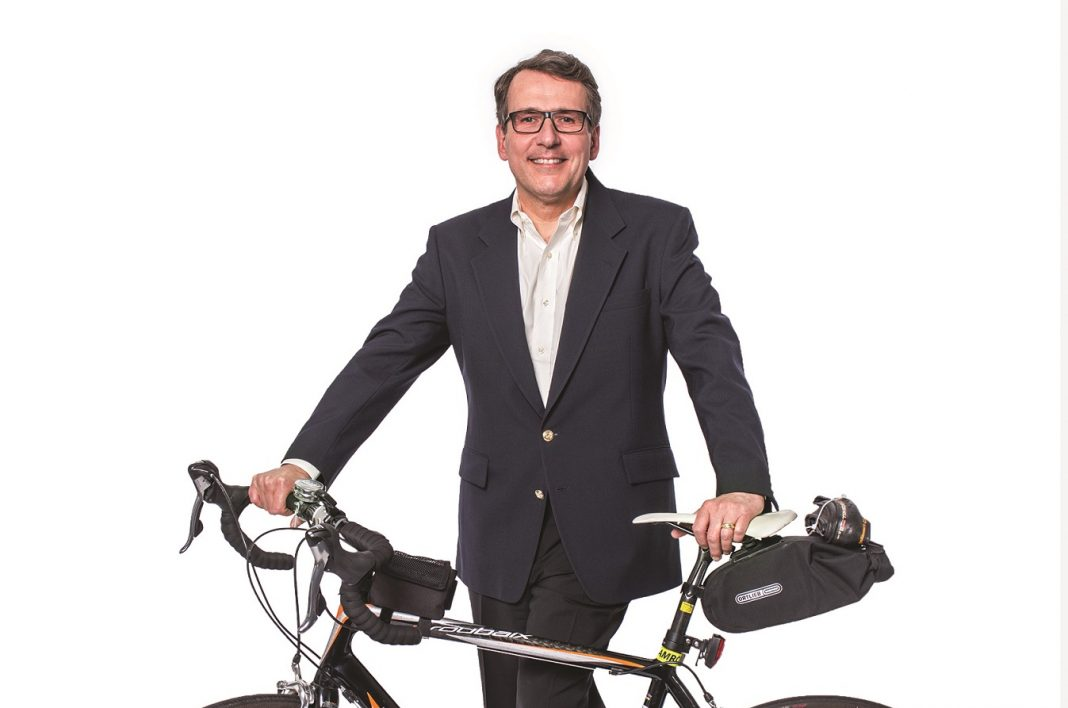 Heritage Bank Jeff with bicycle