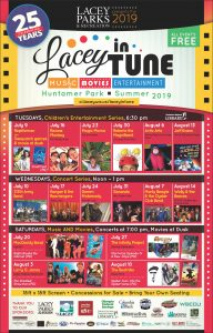 Lacey Parks and Recreation Lacey In Tune Schedule of Events