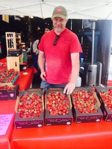 Olympia Farmers Market vendor, Johnson Berry Farms, will sell berries and jam