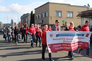 Wells Fargo battlefield to banking Auburn Veterans Day Parade