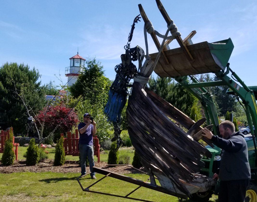 westport winery sculpture unveiling