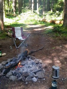 Camping near Olympia
