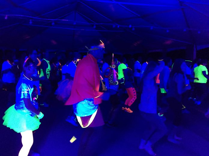 Glow in the Dark 5k after party with black lights