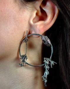 M Quarles earring lavender cycles