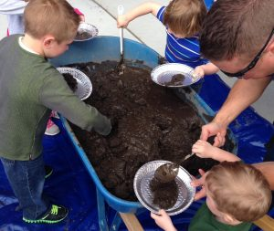 Make a Mega Mess Month Hands on Children's Musuem Mud Pie Mondays Summer Splash Festival